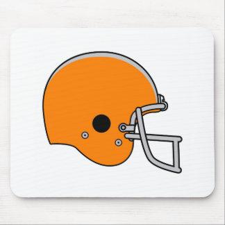 Orange football helmet mouse pad