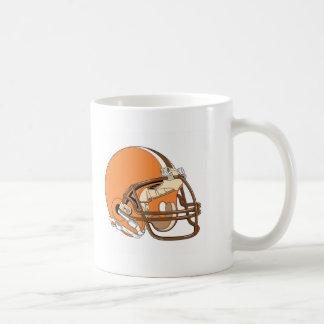 Orange football helmet coffee mug