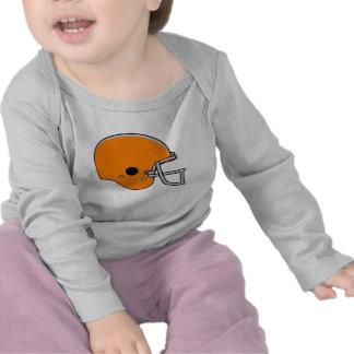Orange Football Helmet Shirts