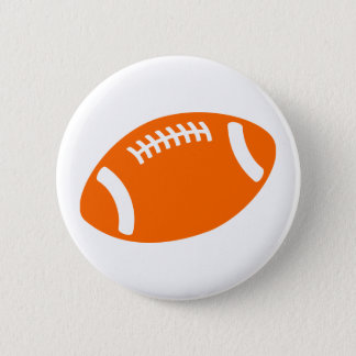 Orange Football Pinback Button
