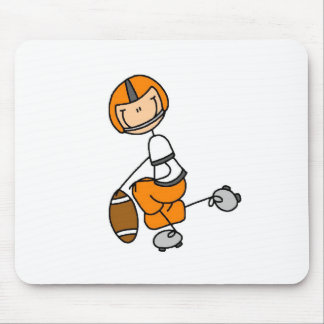 Orange Football Player Mousepad