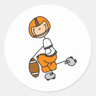 Orange Football Player Sticker