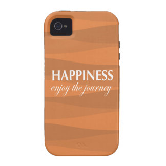 Orange for Happiness iPhone 4 Cases