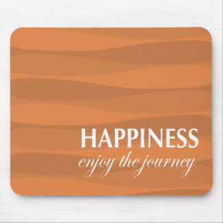 Orange for Happiness Mouse Pad