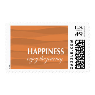Orange for Happiness Postage Stamps