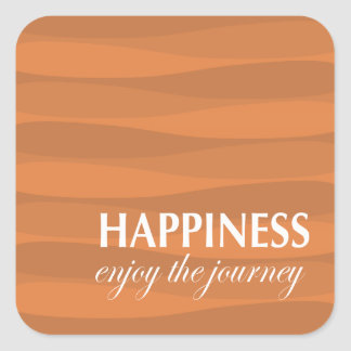 Orange for Happiness Square Sticker