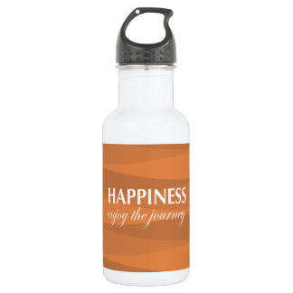 Orange for Happiness Stainless Steel Water Bottle