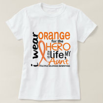 Orange For Hero 2 Aunt MS Multiple Sclerosis T-Shirt