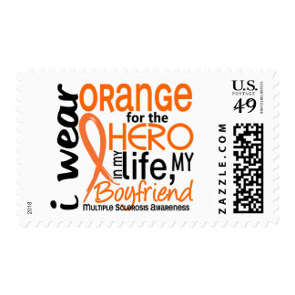 Orange For Hero 2 Boyfriend MS Multiple Sclerosis Postage Stamp