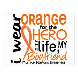 Orange For Hero 2 Boyfriend MS Multiple Sclerosis Postcard