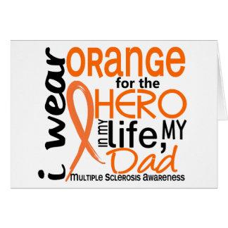 Orange For Hero 2 Dad MS Multiple Sclerosis Card