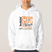 Orange For Hero 2 Dad MS Multiple Sclerosis Hoodie