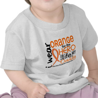 Orange For Hero 2 Daddy MS Multiple Sclerosis T Shirts