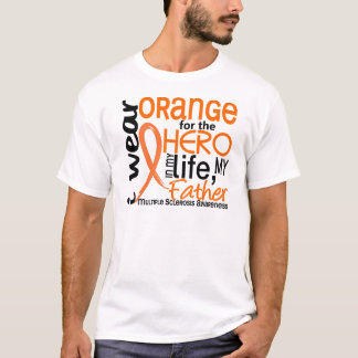 Orange For Hero 2 Father MS Multiple Sclerosis T-Shirt