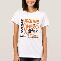 Orange For Hero 2 Friend MS Multiple Sclerosis T-Shirt
