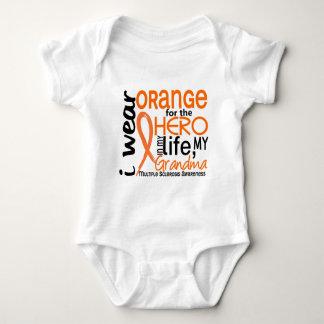 Orange For Hero 2 Grandma MS Multiple Sclerosis Baby Bodysuit