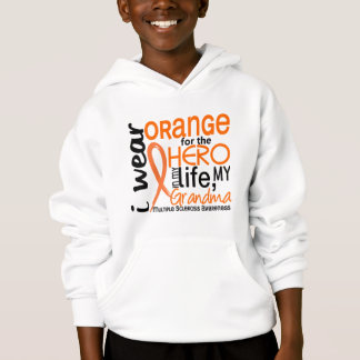 Orange For Hero 2 Grandma MS Multiple Sclerosis Hoodie
