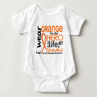 Orange For Hero 2 Grandma MS Multiple Sclerosis Tee Shirt