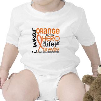 Orange For Hero 2 Grandpa MS Multiple Sclerosis Baby Bodysuits