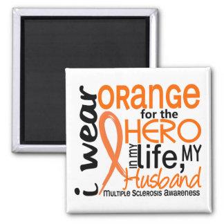 Orange For Hero 2 Husband MS Multiple Sclerosis Refrigerator Magnet