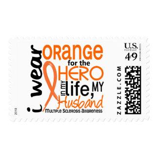 Orange For Hero 2 Husband MS Multiple Sclerosis Postage