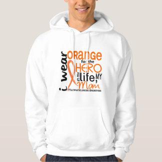 Orange For Hero 2 Mom MS Multiple Sclerosis Hoodie