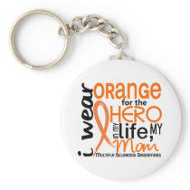 Orange For Hero 2 Mom MS Multiple Sclerosis Keychain