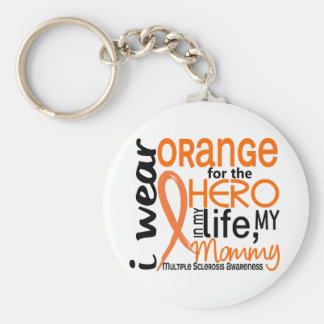 Orange For Hero 2 Mommy MS Multiple Sclerosis Basic Round Button Keychain