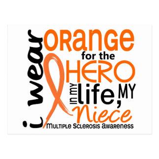 Orange For Hero 2 Niece MS Multiple Sclerosis Postcard