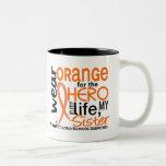 Orange For Hero 2 Sister MS Multiple Sclerosis Coffee Mug