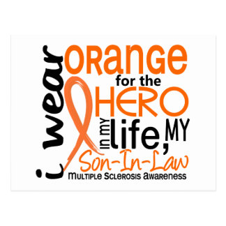 Orange For Hero 2 Son-In-Law MS Multiple Sclerosis Post Card