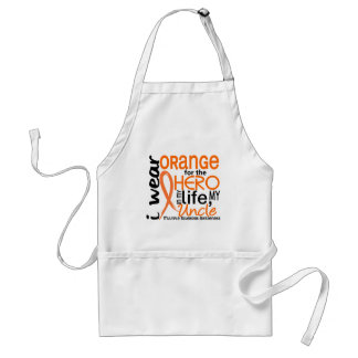 Orange For Hero 2 Uncle MS Multiple Sclerosis Adult Apron