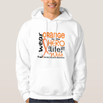 Orange For Hero 2 Wife MS Multiple Sclerosis Hoodie