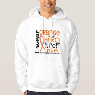 Orange For Hero 2 Wife MS Multiple Sclerosis Hoodie