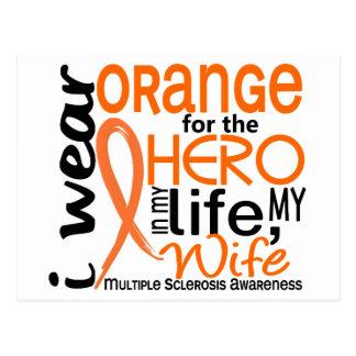 Orange For Hero 2 Wife MS Multiple Sclerosis Postcard