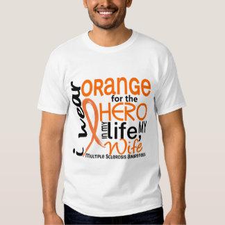 Orange For Hero 2 Wife MS Multiple Sclerosis Shirt