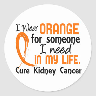 Orange For Someone I Need Kidney Cancer Classic Round Sticker