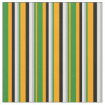[ Thumbnail: Orange, Forest Green, Grey, White, and Black Fabric ]