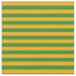 [ Thumbnail: Orange & Forest Green Stripes/Lines Pattern Fabric ]