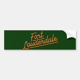 orange Fort Lauderdale Car Bumper Sticker