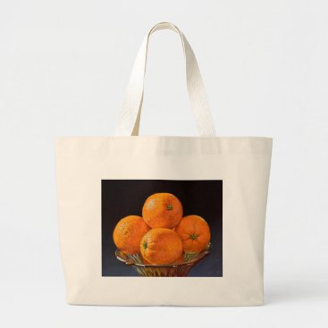 Beach Themed Orange Foundry Large Tote Bag