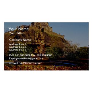 Orange Fountain and tulips, Edinburgh Castle, Scot Business Cards