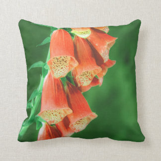 Orange Foxglove Flowers Pillow/Cushion Throw Pillow