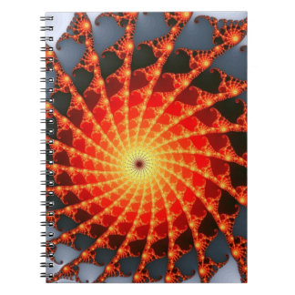 Orange Fractal Spider Web Journals