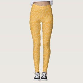 Orange Fractal-style Look Leggings