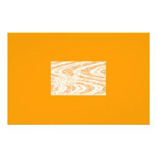 Orange framed deer stationery