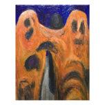 Orange Fraternity (distortion expressionism) Custom Letterhead