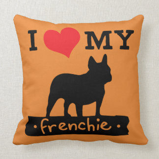 Orange French Bulldog Pillow by Mini Brothers