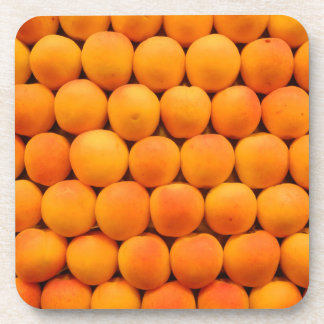 Orange Fresh Apricot Designs Beverage Coaster