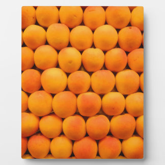 Orange Fresh Apricot Designs Plaque